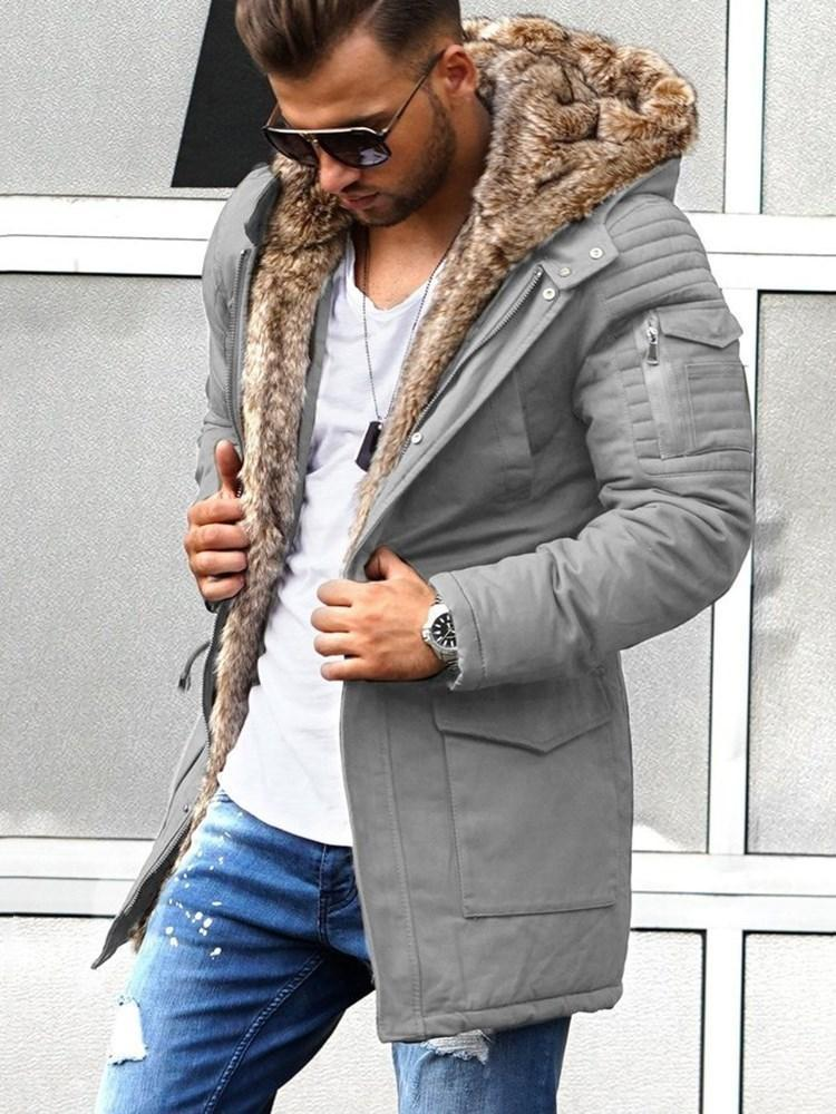 Standard Plain Straight Winter Coat