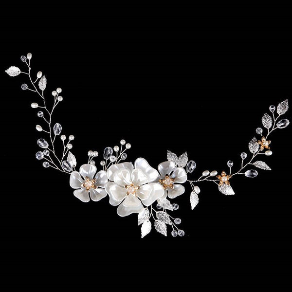 Plant Pearl Inlaid Headband Gift Hair Accessories