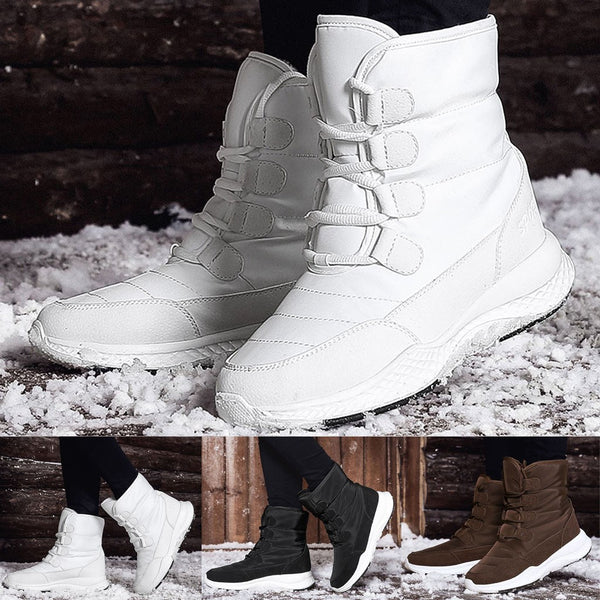Lace-Up Front Round Toe Thread Short Floss Boots