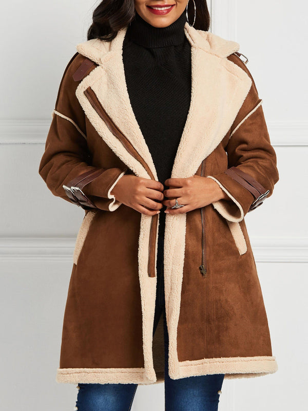 Single-Breasted Button Long Long Sleeve Western Trench Coat