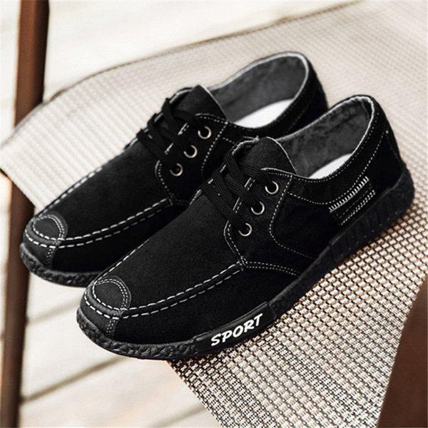 Lace-Up Low-Cut Upper Round Toe Thin Shoes