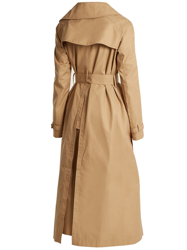 Double-Breasted Long Lapel Regular Long Sleeve Trench Coat