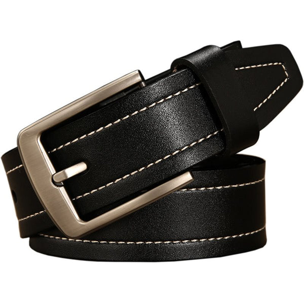 Pin Buckle Thread Casual Leather Belts