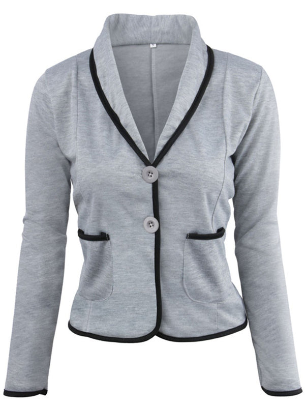 Single-Breasted Long Sleeve Fall Standard Casual Blazer