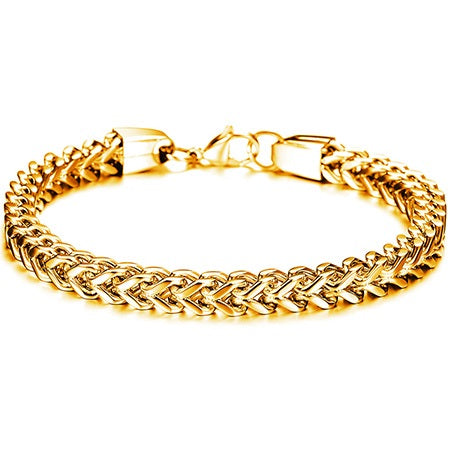 E-Plating European Plain Male Bracelets