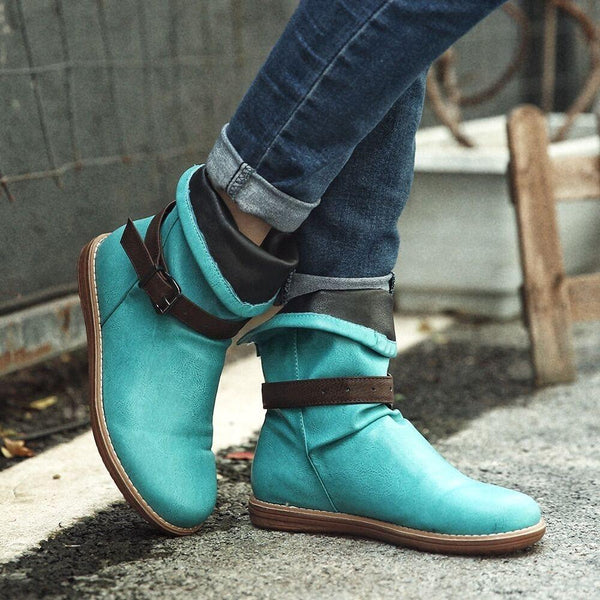 Slip-On Round Toe House Boots