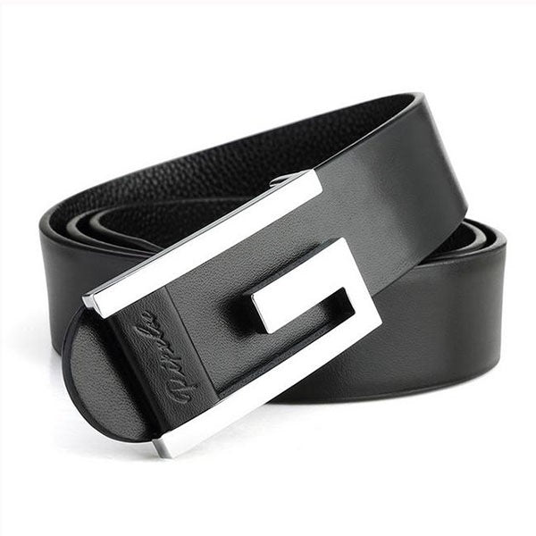 Smooth Embossed Leather Formal Leather Belts