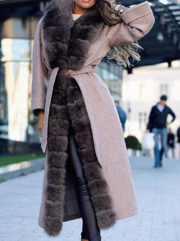 Regular Long Loose Thick Faux Fur Overcoat