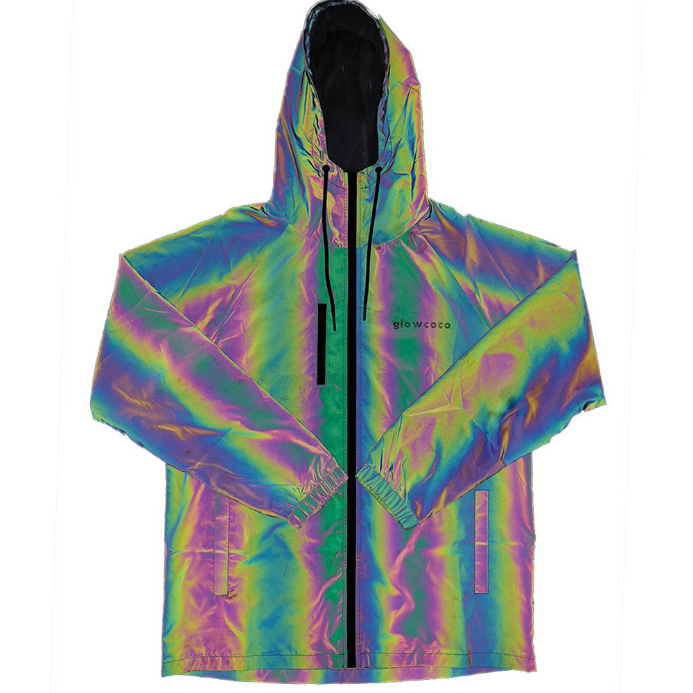 Glowcoco Windbreaker - Rainbow Reflective