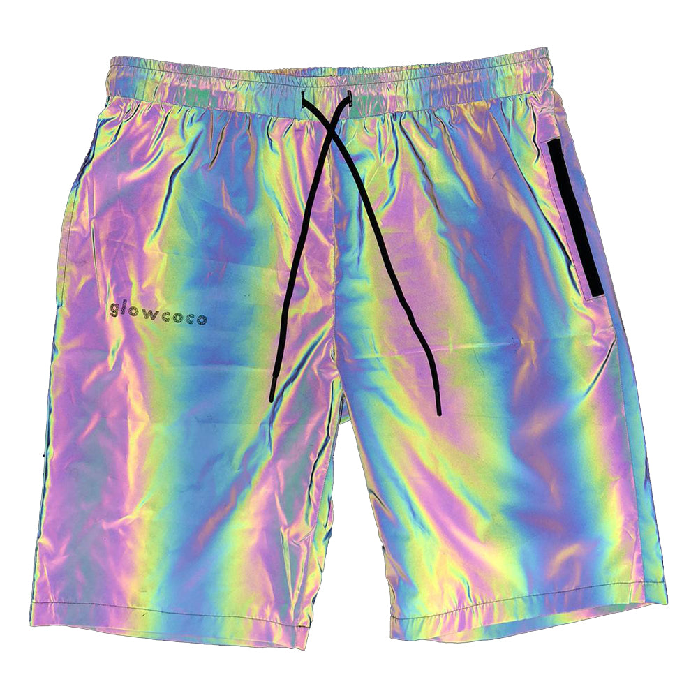 Glowcoco Unisex Shorts - Rainbow Reflective - GLOWCOCO | Reflective Fashion