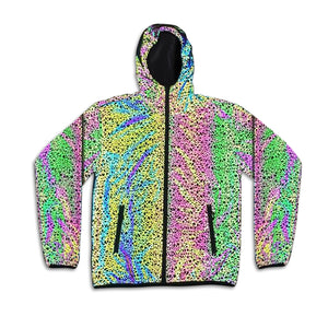 Glowcoco Reflective Holographic Stripe Hoodie - glowcoco reflective clothing