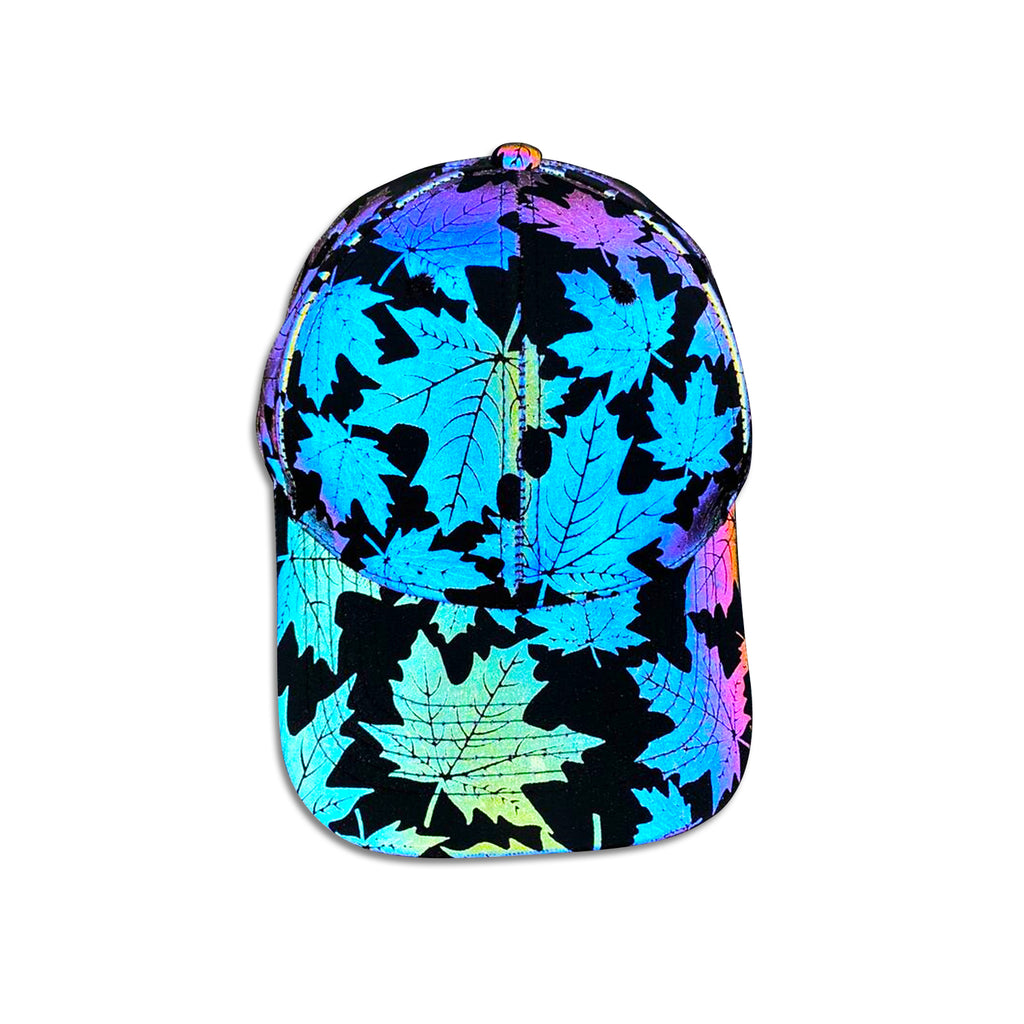 Glowcoco Maple Leaf Holographic Baseball Cap - glowcoco reflective clothing