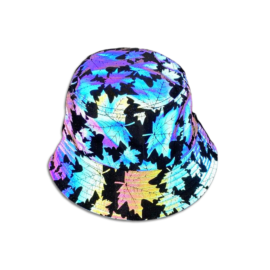 Glowcoco Maple Leaf Holographic Bucket Hat - glowcoco reflective clothing