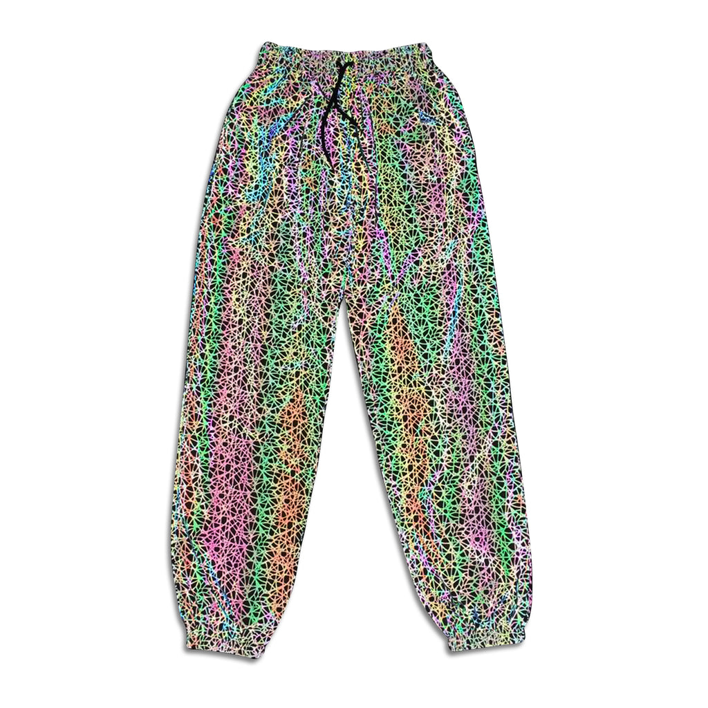 Glowcoco Reflective Holographic Stripe Pants - glowcoco reflective clothing