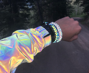 Glowcoco Bracelet - Rainbow Reflective - GLOWCOCO | Reflective Fashion