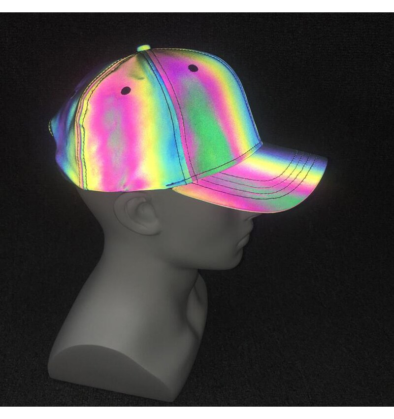 Glowcoco Hat - Rainbow Reflective - glowcoco reflective clothing