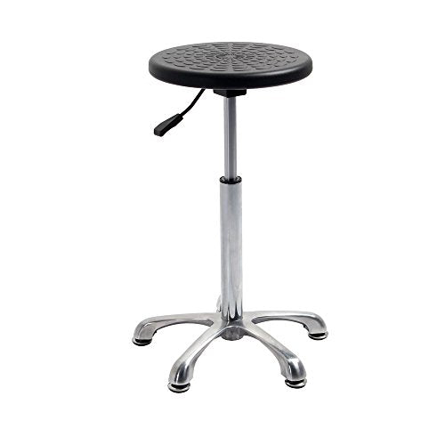 Retro Polyurethane Swivel Bar Chair Stool No Arm and Back for Office Medical Massage Spa Hairdresser Salon Use, 360 Degree Swivel, 500LBS Capacity, 21.26