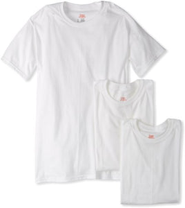 Hanes Ultimate Men's Big and Tall 3-Pack FreshIQ Crew Neck Tee, White, 4X-Large