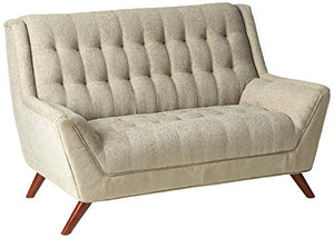 Coaster Home Furnishings Natalia Loveseat with Exposed Wood Legs Dove Grey