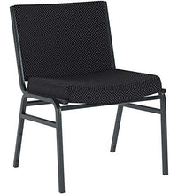 Load image into Gallery viewer, Flash Furniture HERCULES Series Big & Tall 1000 lb. Rated Black Fabric Stack Chair