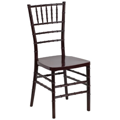 Flash Furniture HERCULES PREMIUM Series Mahogany Resin Stacking Chiavari Chair
