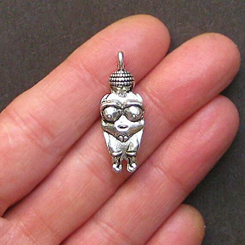 Great Selection 2 Fertility Goddess Charms Antique Silver Tone 3D with Great Detail - SC1408 Build Your Designs