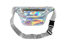 Load image into Gallery viewer, Holographic Fanny Pack for Women with Extender - and Waterproof Phone Pouch - Adjustable Belt - Good for Plus Size - for Travel, Festival, Party, Rave, Cruise