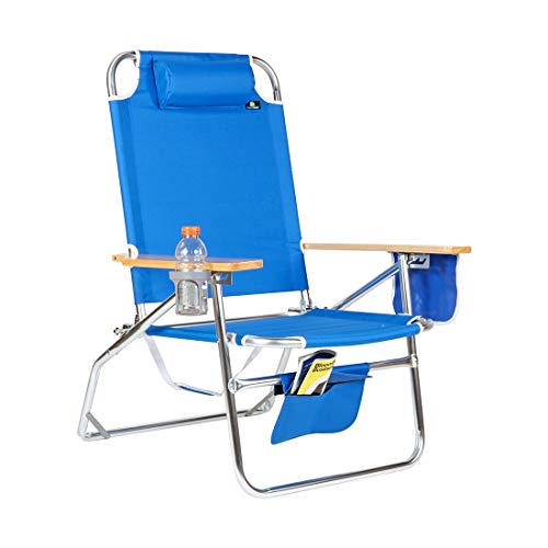 Big Jumbo Heavy Duty 500 lbs XL Aluminum Beach Chair for Big & Tall