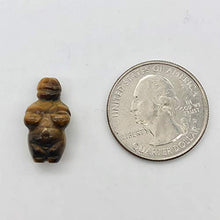 Load image into Gallery viewer, 2 Carved Tigereye Goddess of Willendorf Beads for Jewelry Making 009287TE