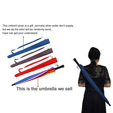 Load image into Gallery viewer, meizhouer 24k Color Rainbow Umbrella Fashion Long Handle Straight Anti-UV Sun/Rain Stick Umbrella Manual Big Parasol