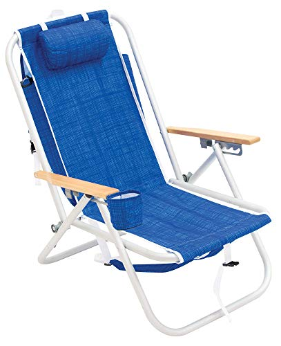 RIO Gear Deluxe Aluminum 4-Position Backpack Chair with Large Storage Pouch