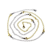 Load image into Gallery viewer, D-buy 8 Pcs Stainless Steel Necklace Extender Bracelet Extender Extender Chain Set 4 Different length: 6 inch 4 inch 3 inch 2 inch (4 Gold, 4 Silver)