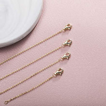 "Load image into Gallery viewer, Necklace Extenders Gold Necklace Extenders For Women Bracelet Extender Set 2"", 3"",4"", and 6"""