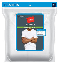 Load image into Gallery viewer, Hanes Ultimate Men's Big and Tall 3-Pack FreshIQ Crew Neck Tee, White, 4X-Large