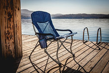 Load image into Gallery viewer, ONIVA - a Picnic Time Brand PT-XL Over-Sized 400-Lb. Capacity Outdoor Folding Camp Chair, Navy