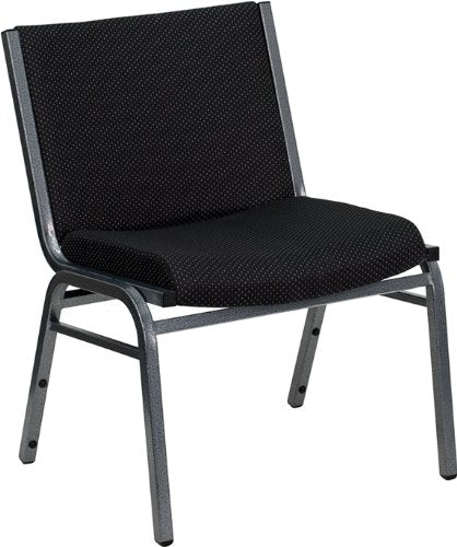 Flash Furniture HERCULES Series Big & Tall 1000 lb. Rated Black Fabric Stack Chair