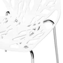Load image into Gallery viewer, Poly and Bark Modern Mid-Century Birds Nest Dining Side Chair in White with Chrome Legs (Set of 4)