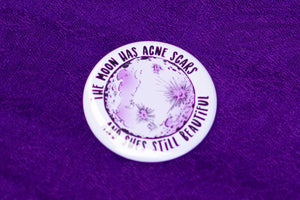 The Moon Has Acne Scars Pocket Mirror