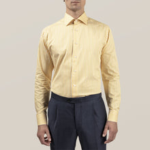 Load image into Gallery viewer, Eton- Yellow Bengal Striped Dress Shirt