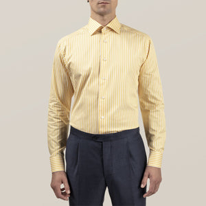 Eton- Yellow Bengal Striped Dress Shirt
