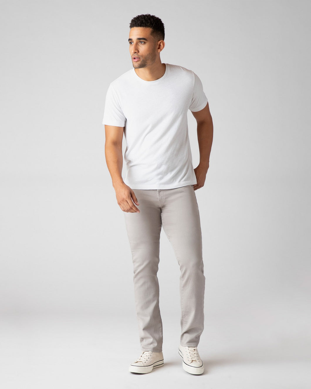 JBrand- Kane straight fit twill jeans