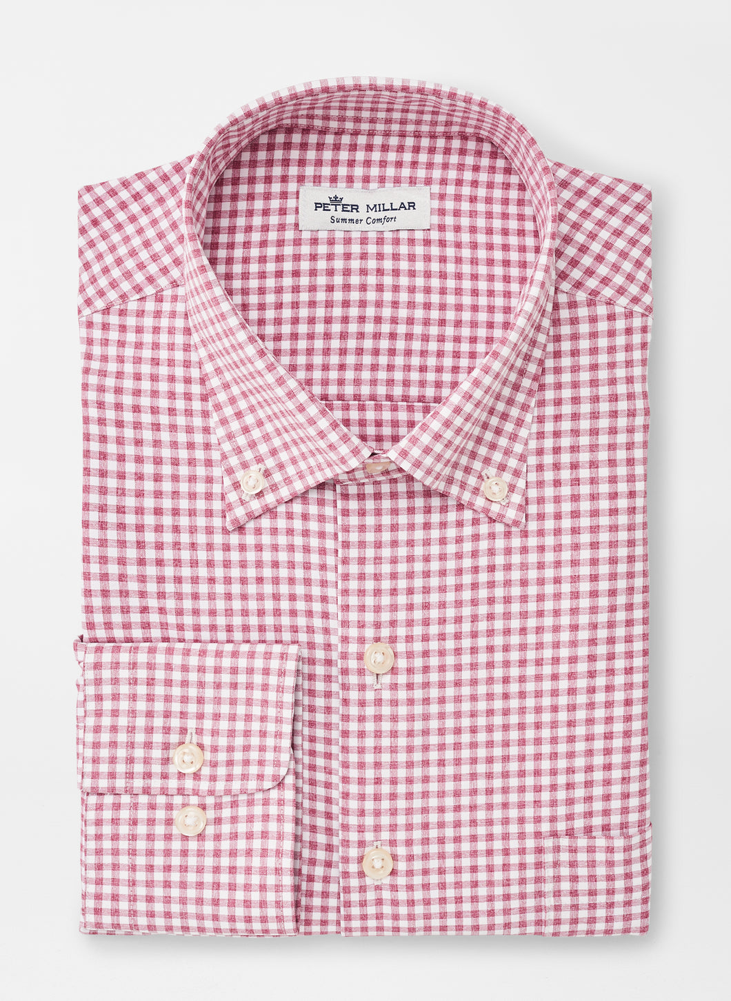Samuel- Natural Touch Sport Shirt- Pomegranate