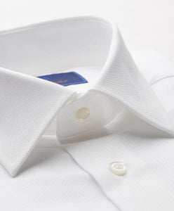 David Donahue- Royal Oxford dress shirt- TRIM fit, white
