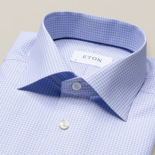 Load image into Gallery viewer, Eton- blue geometrical printed dress shirt