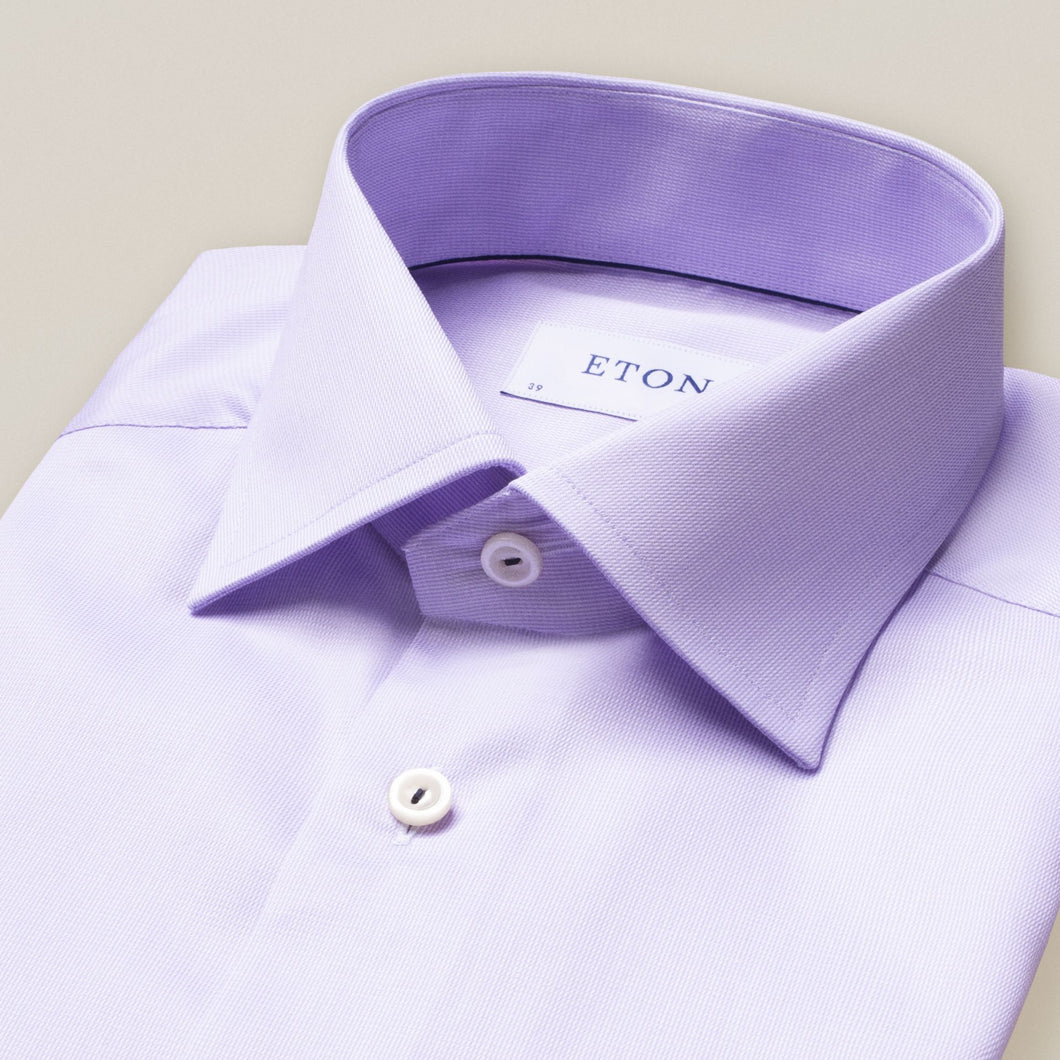 Eton- Textured solid, lavender dress shirt
