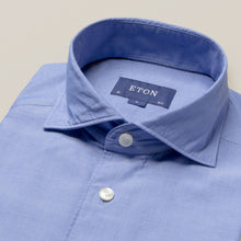 Load image into Gallery viewer, Eton- Casual, washed blue solid shirt