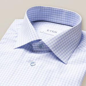 Eton- Blue Checked Dress shirt