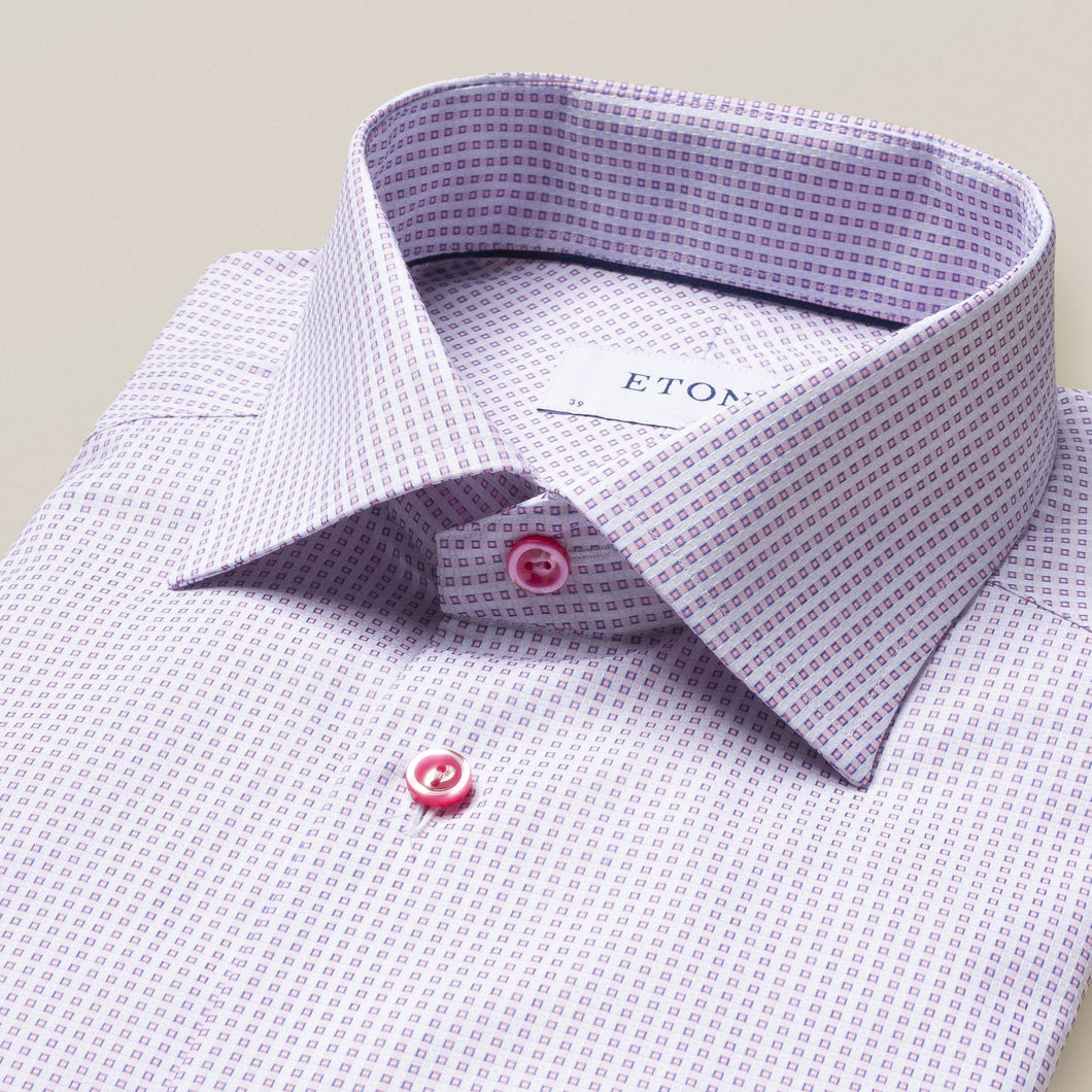Eton- Pink Geometrical Print Dress shirt