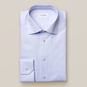 Eton- Solid blue dress shirt