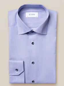 Pastel Navy Dress Shirt- with Navy Contrast Buttons